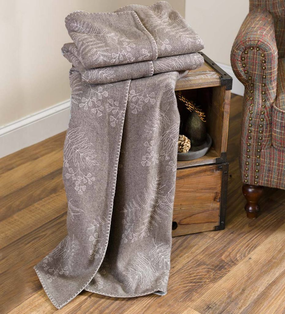 Oversized Embroidered Wool Throw $34.97 Shipped!