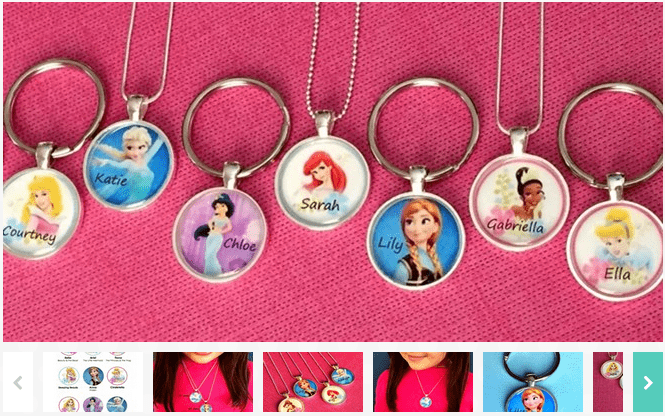 Personalized Princess Necklace Or Keychain