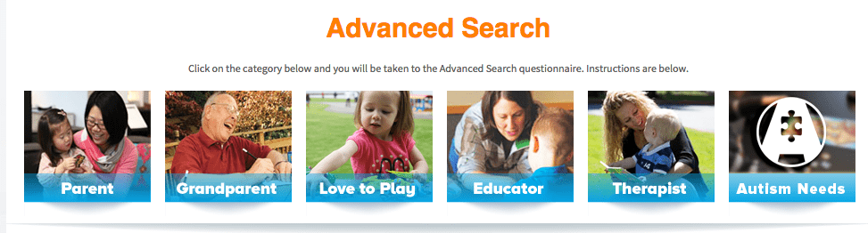 Advanced Search Feature on Simply Fun Games