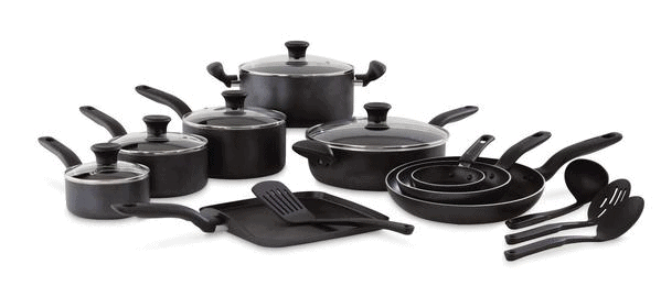 T-fal Initiatives 18-Piece Nonstick Inside and Out Cookware Set