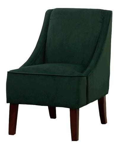 Threshold Swoop Chair - Green Velvet