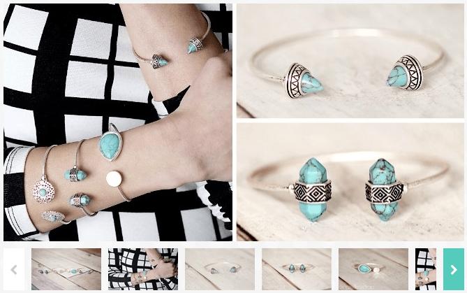 Turquoise Open Skinny Cuff Bracelets