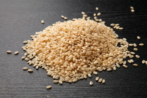 Freeze brown rice