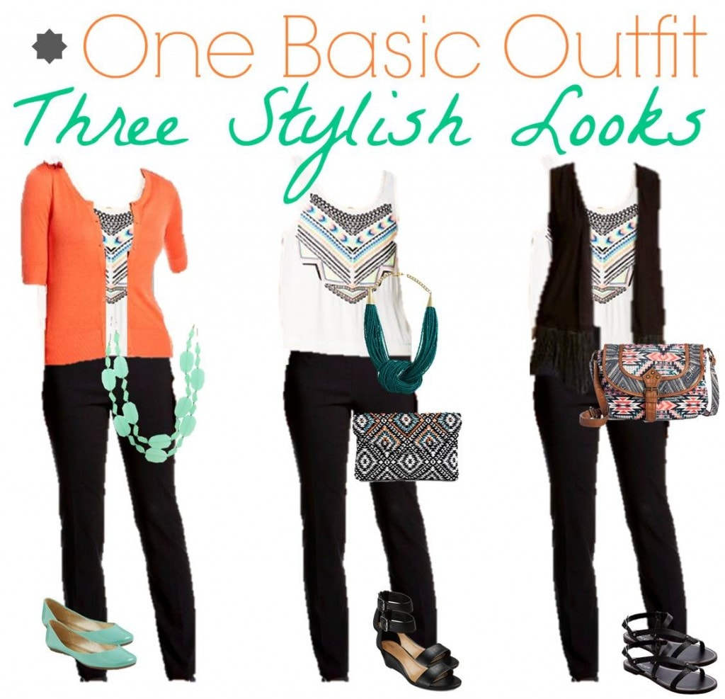 Three Outfits out of One Tank & One Pair of Pants – Making Your Wardrobe Stretch