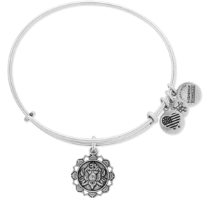 Alex and Ani Lotus Adjustable Wire Bangle Bracelets