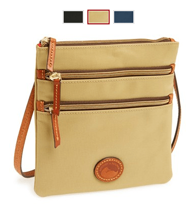 Dooney & Bourke Triple Zip Nylon Crossbody Bag