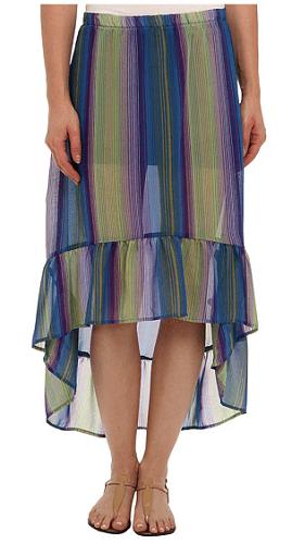 Lucy Love Sheer Hi-Lo Skirt