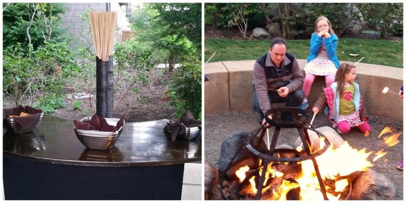 Smores around the Campfire at Suncadia