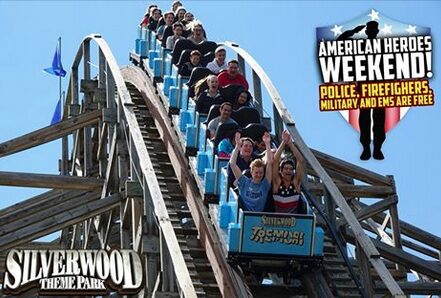 Silverwood – Free Admission Memorial Weekend for Military, Police Officers & Firefighters!