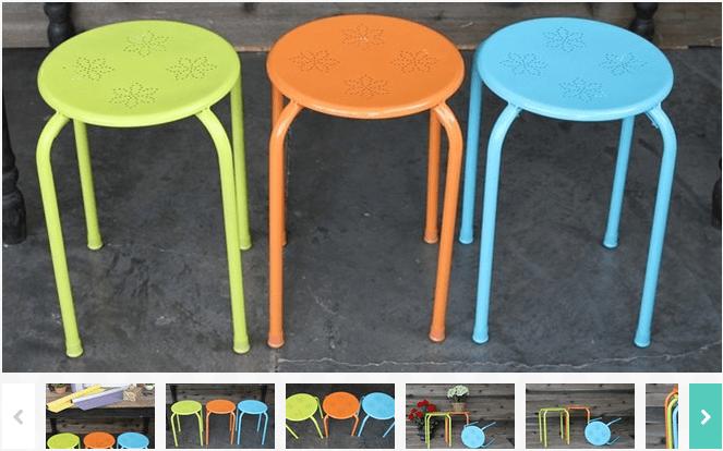 powder coated indoor outdoor stool