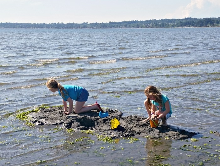Birch Bay & Sand Castle Making