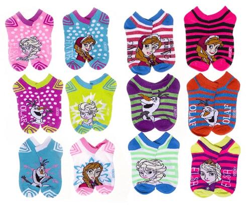 Disney Character Socks 12-Pack