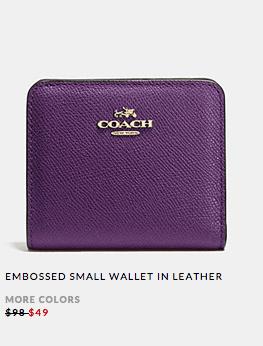 Coach Leather Wallet Sale