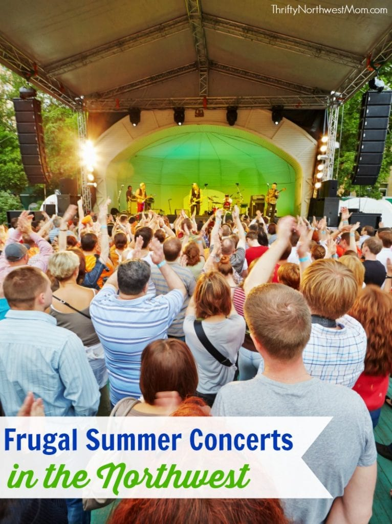Looking for frugal summer entertainment, check out this list of free or low cost Summer Concerts for Families in the Northwest