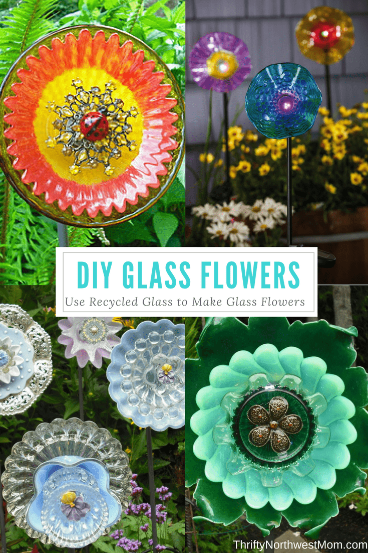 Using Recycled Glass To Make Flowers - DIY Glass Flowers! - Thrifty ...