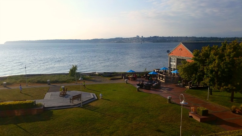 View from Semiahmoo Resort to Canada