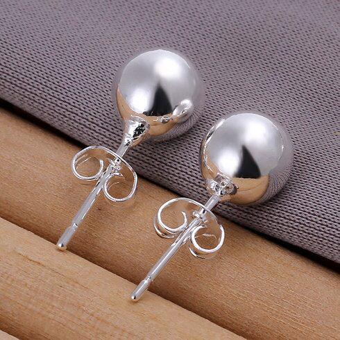18K Sterling Silver Pearled 925 Earrings $5 Shipped!