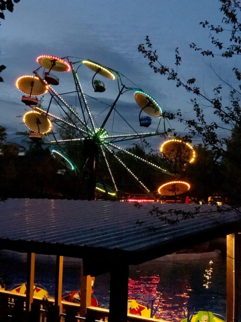rides at night at silverwood