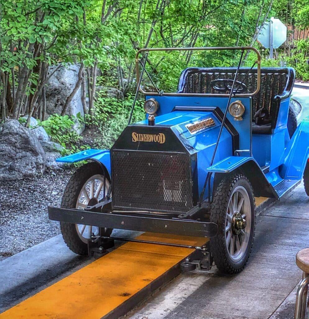 old fashion cars at silverwood