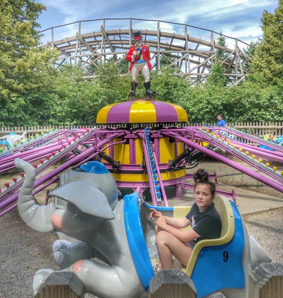 elephant ride at silverwood