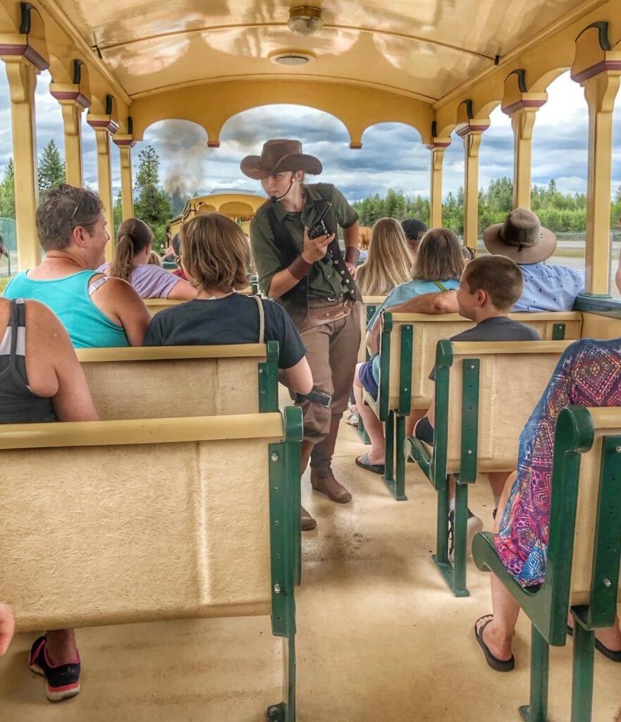 Actors on Silverwood Idaho train