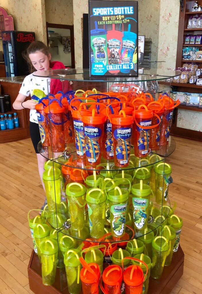Refillable souvenir cups at Silverwood