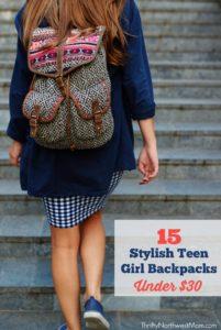 Back to School Backpacks for Teen Girls - 15 Stylish Backpacks under $30