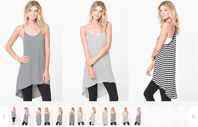 Black and White Striped Tanks