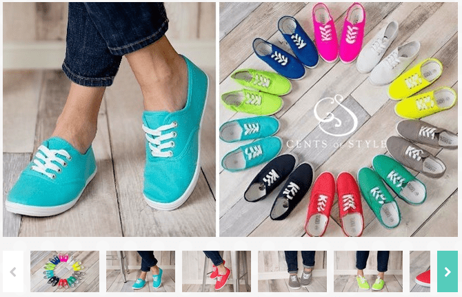 Canvas Sneakers $12.99! Available In 11 Colors!
