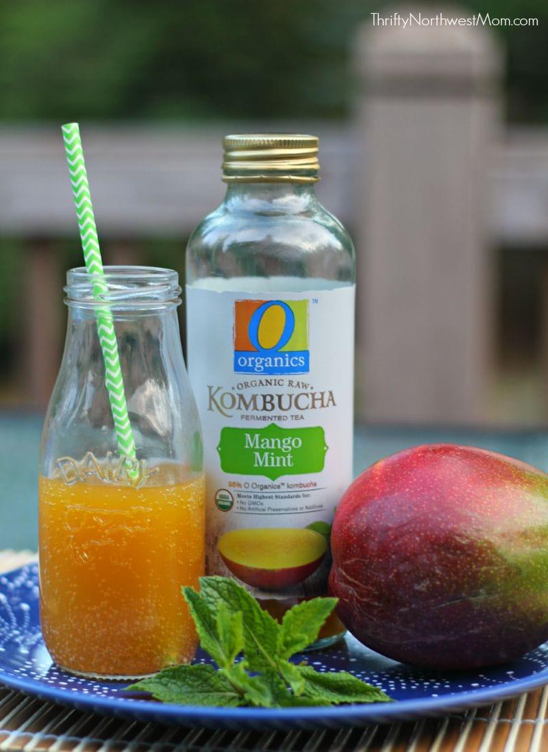 O Organics Mango Mint Kombucha Drink