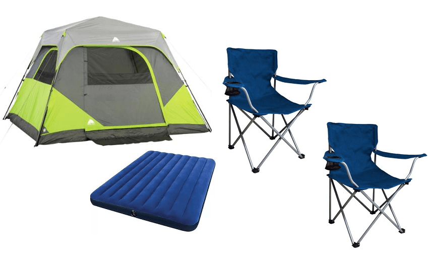 Ozark Trail 6 Person Instant Cabin Tent Bundle 79