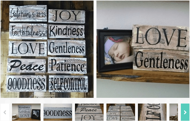 Rustic Fruit Of The Spirit Pallet Signs