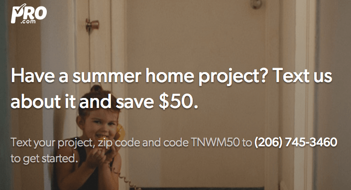 Pro.com – Free Quotes & $50 off Home Projects + Win $200 for Home Services!