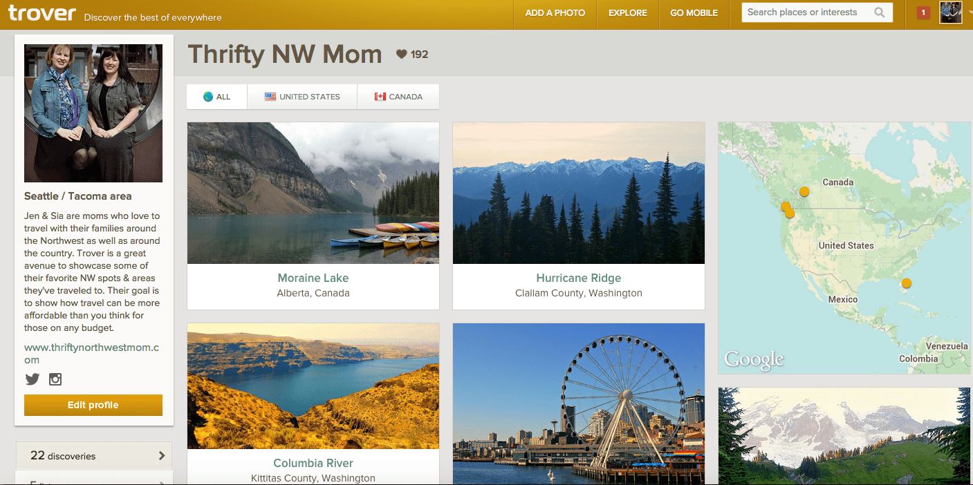Trover Thrifty NW Mom Home Page