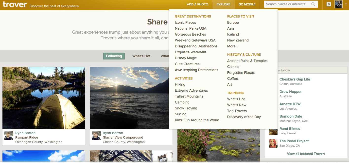 Trover Lists