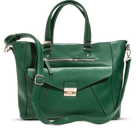 Women's Tote Handbag with Gold Clasp Pocket