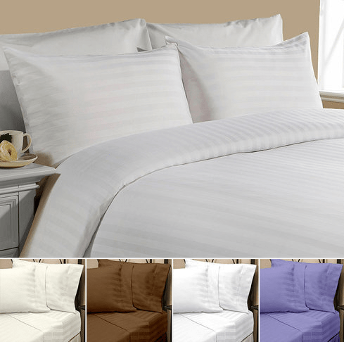 4-Piece Couture Collection Dobby Print Sheet Set $12.79 With FREE Shipping!