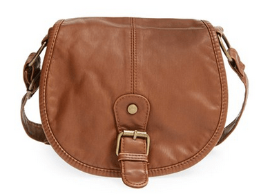 BP. Woven Border Faux Leather Crossbody Bag