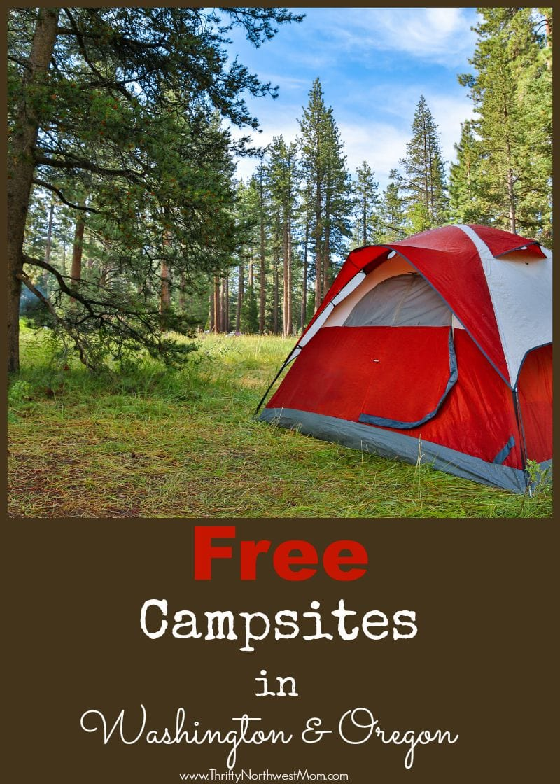 Wanting to camp this summer on a budget? Here's a list of Free Campsites in Washington & Oregon.