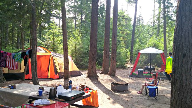 Luby Bay campground 2