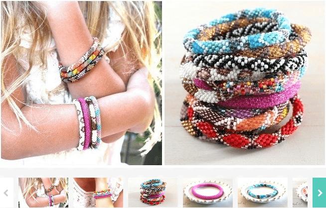 Nepal Glass Beaded Bracelets