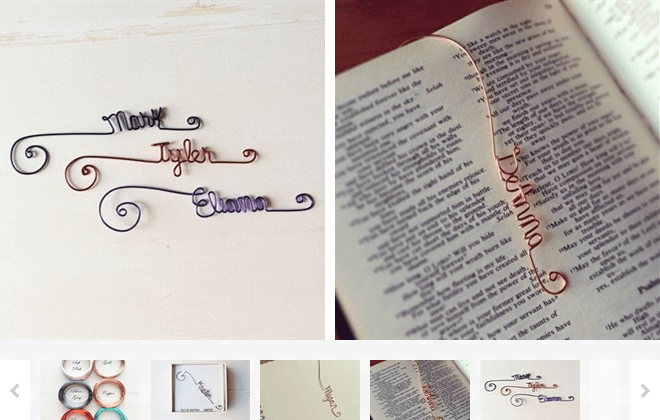 Personalized Name Word Bookmark