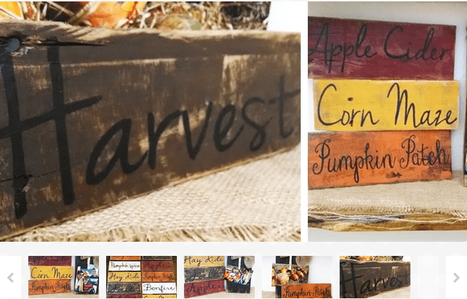 Rustic Fall Pallet Board Signs