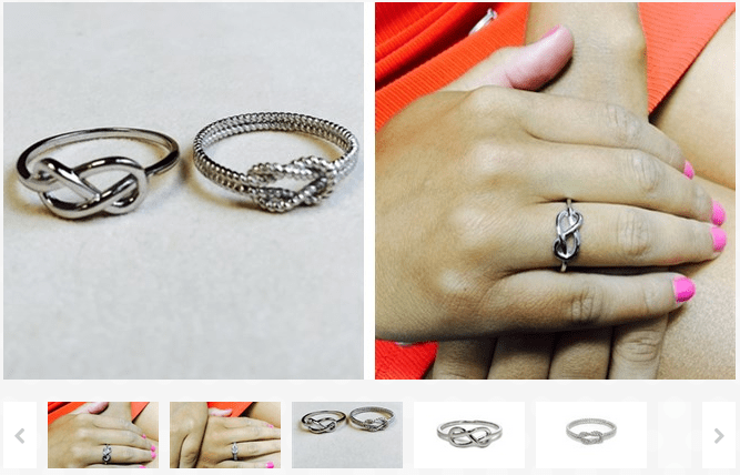 Solid Sterling Silver Love Knot Ring