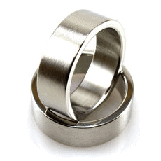 Stainless Steel Flat Ring with Brushed Finish