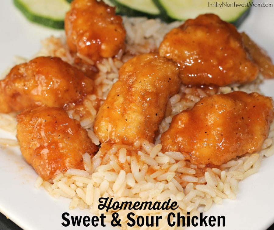 Sweet & Sour Chicken with Tysons Popcorn Chicken Any'tizer