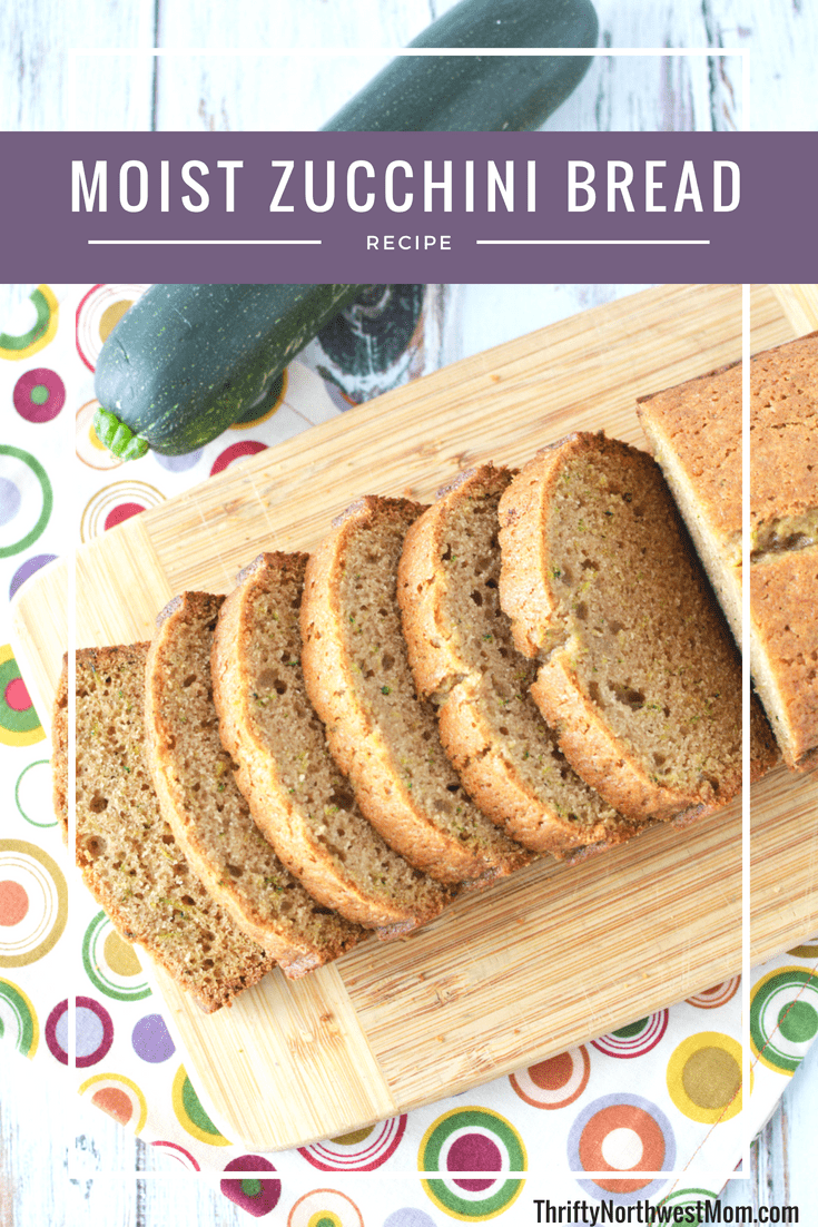This moist zucchni bread is perfect for summertime & using your zucchinis from the garden.