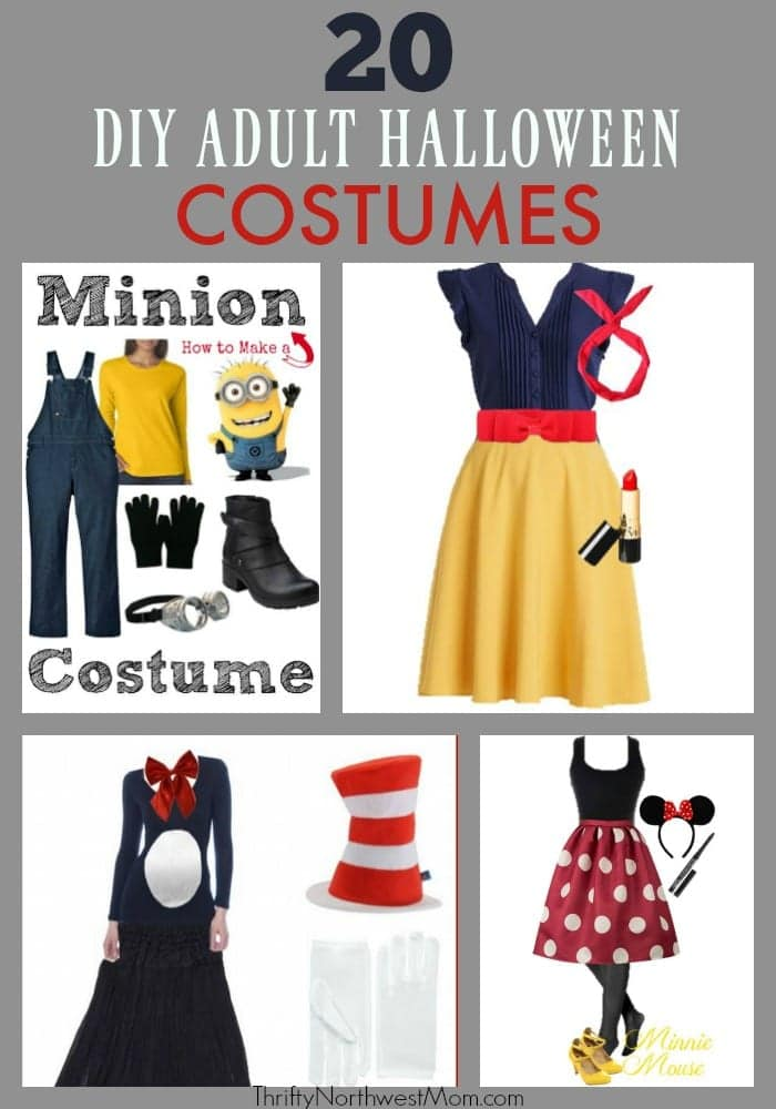 20 DIY Adult Halloween Costumes to show off your creativity!  sc 1 st  Thrifty NW Mom & DIY Adult Halloween Costumes