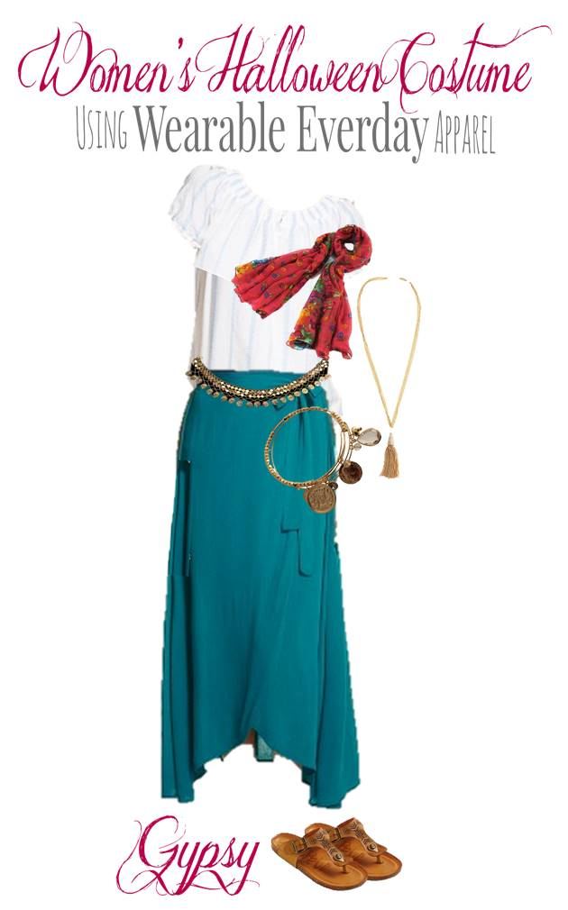 DIY Gypsy Costume Using Everyday Clothes You Can Wear