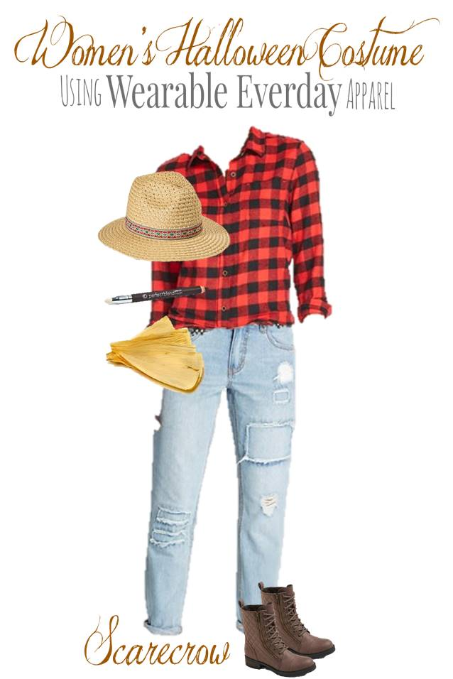 Diy Scarecrow Costume Using Everyday Clothes Thrifty Nw Mom